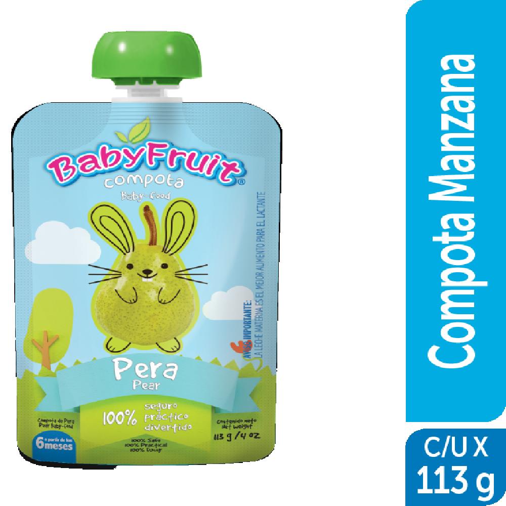 Compota en pouch BabyFruit 113g Pera