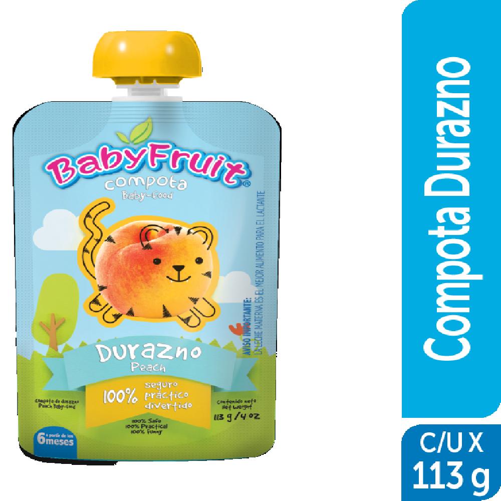 Compota en pouch BabyFruit 113g Durazno