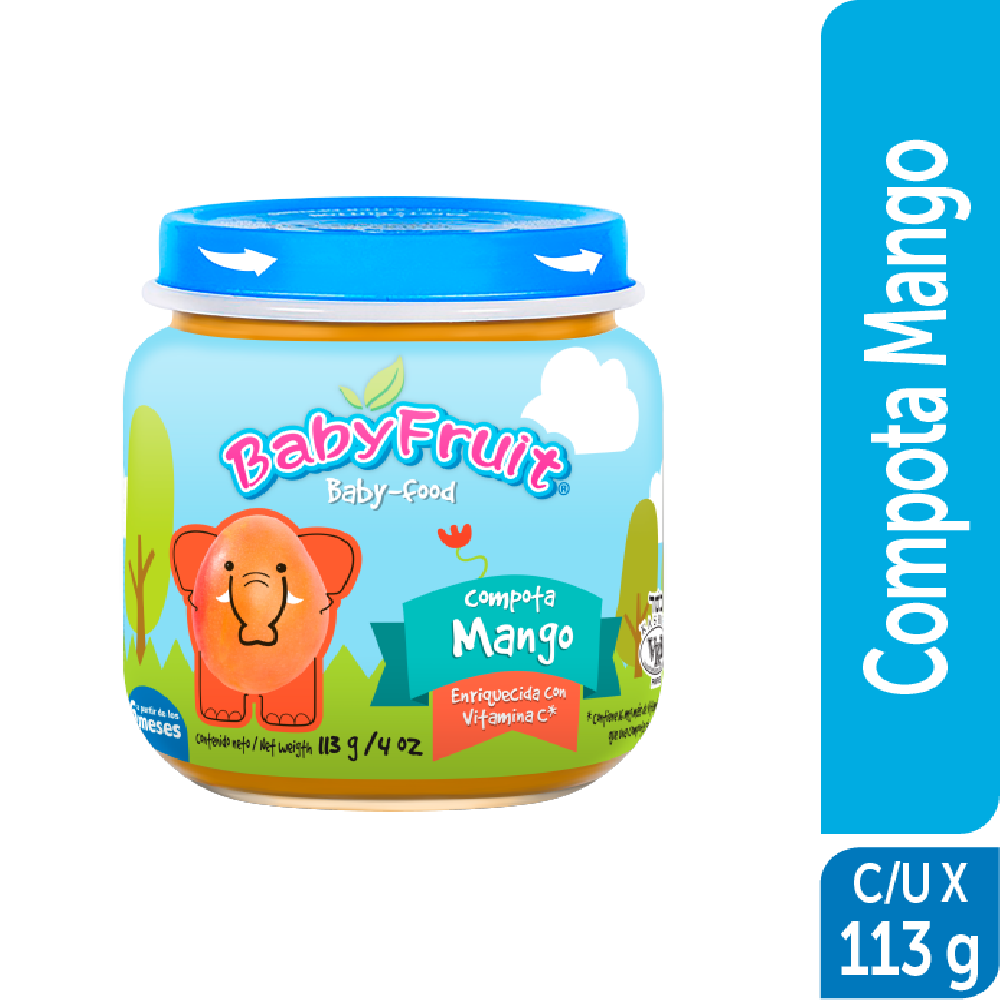 Compota en vidrio BabyFruit 113g Mango