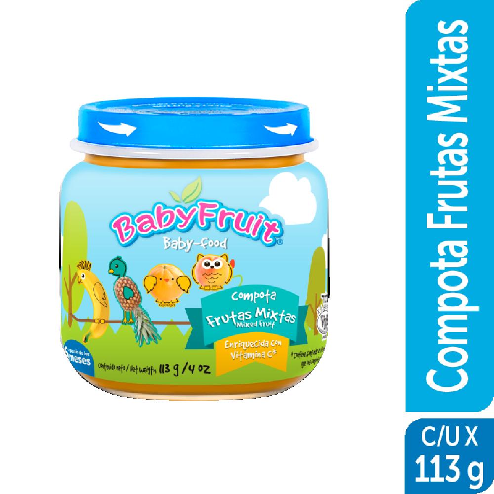 Compota en vidrio BabyFruit 113g Mix de Frutas