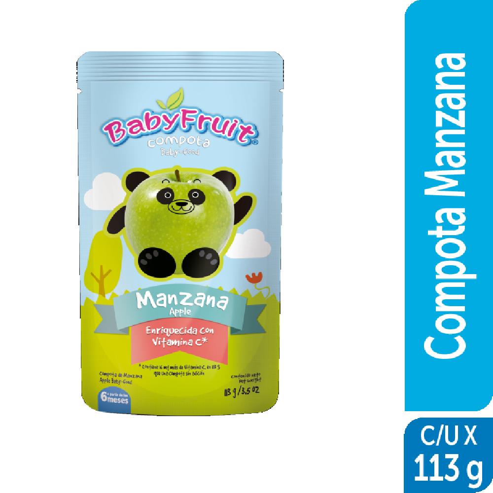 Compota sachet flexible BabyFruit 113g Manzana