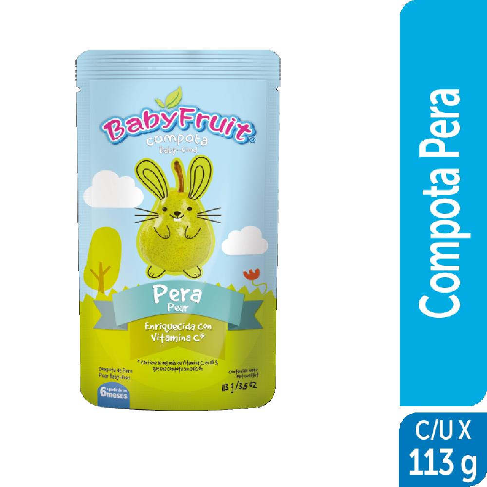 Compota sachet flexible BabyFruit 113g Pera