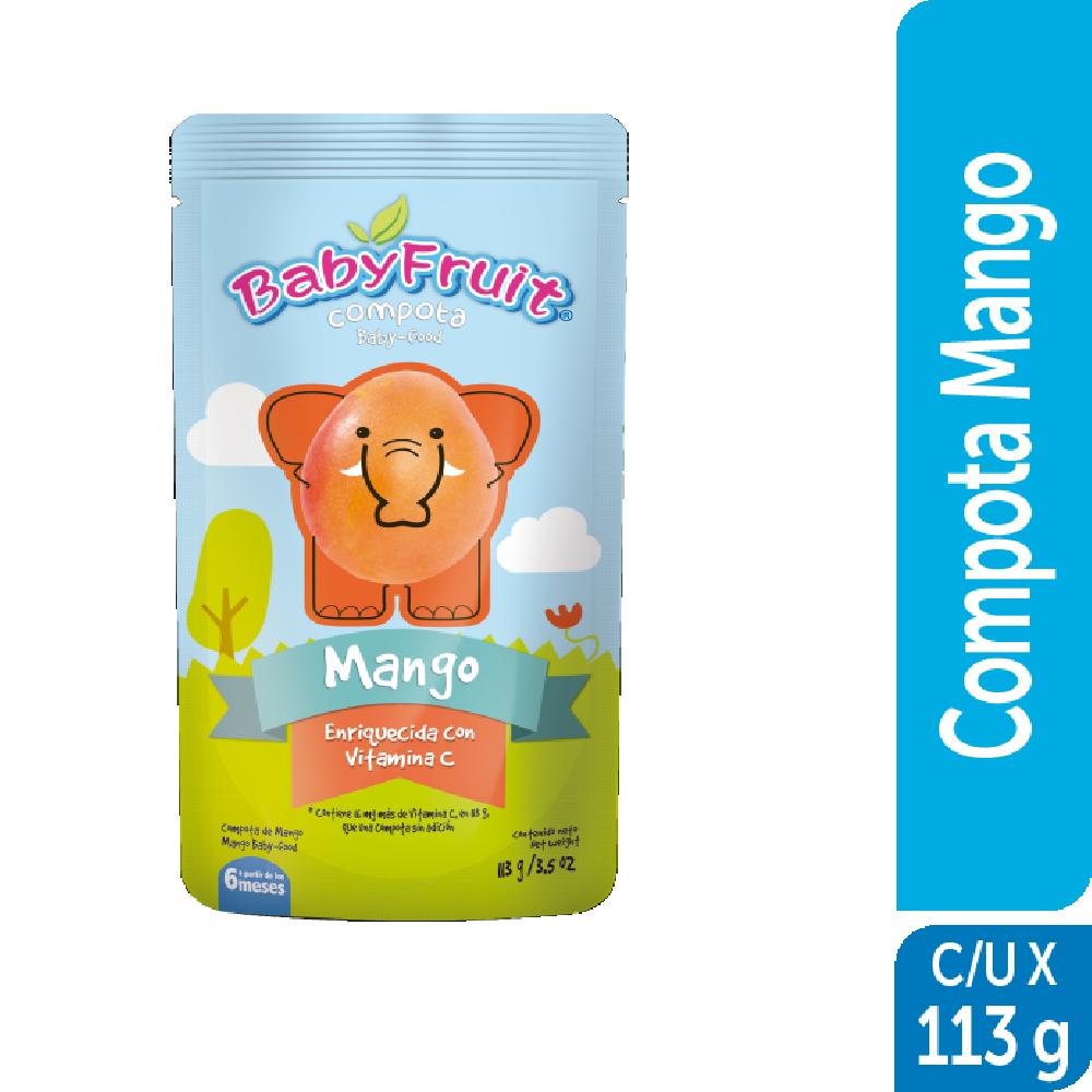 Compota sachet flexible BabyFruit 113g Mango