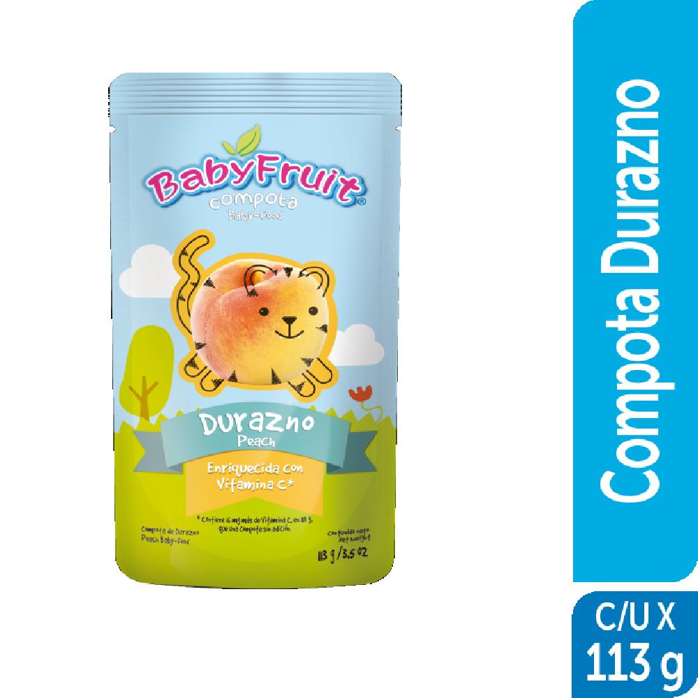 Compota sachet flexible BabyFruit 113g Durazno