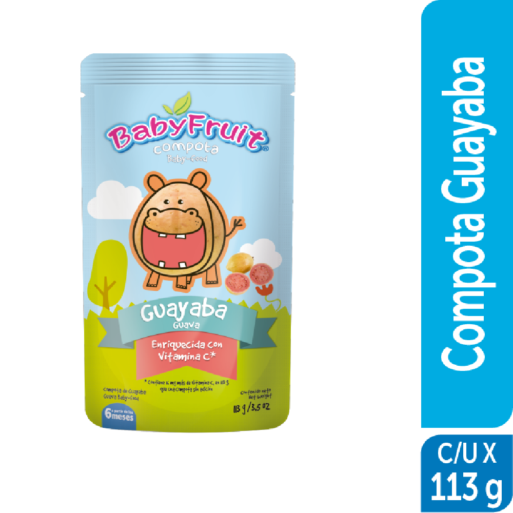 Compota sachet flexible BabyFruit 113g Guayaba