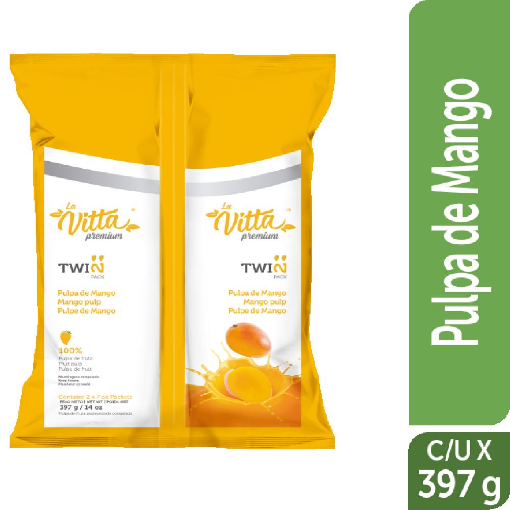 Pulpa congelada la Vitta 397g twinpack Mango