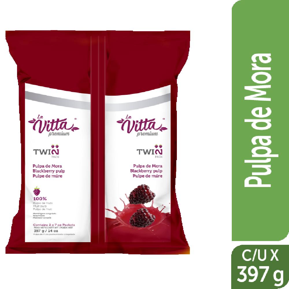 Pulpa congelada la Vitta 397g twinpack Mora