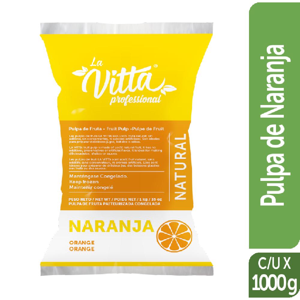 Pulpa de Fruta Congelada la Vitta 1kg Naranja