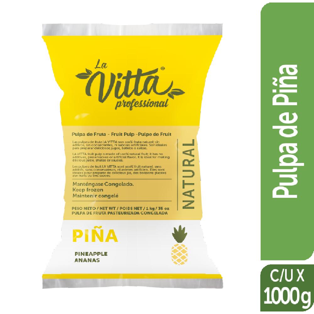 Pulpa de Fruta Congelada la Vitta 1kg Piña