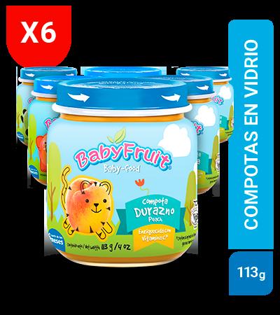 Compotas de frutas BabyFruit 113g sixpack