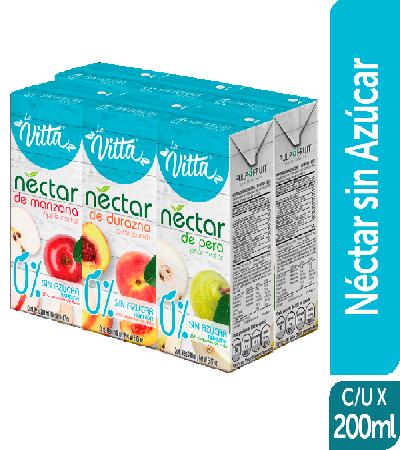 Néctar sin azúcar la Vitta 200ml Surtido sixpack