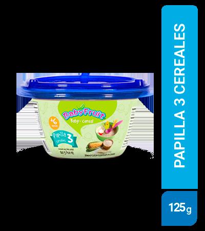 Papilla Tres cereales BabyFruit 125g